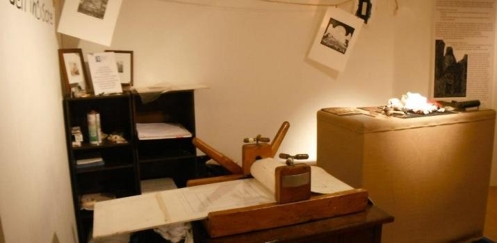 La Bottega dell'Incisore, laboratorio pratico per i visitatori curato dagli amici Lorenzo Bongiorni e Sergio Zanaboni