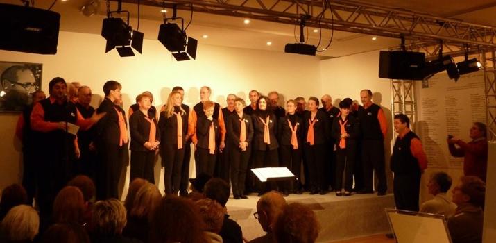 30/11/14. Il coro Monte Alben della Città di Lodi, nello spettacolo dedicato all'amico Marcello Lupi