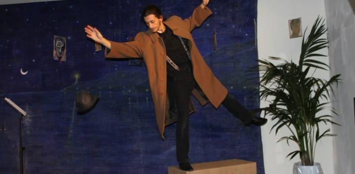 01/12/13. L'attore Davide Del Grosso durante lo spettacolo teatrale «Novecento» di Alessandro Baricco